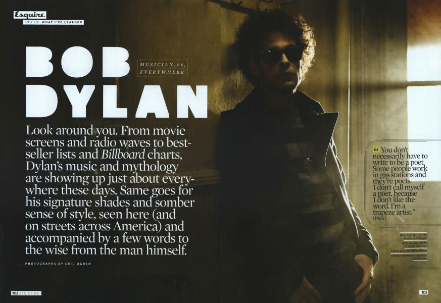 Bob Dylan | Esquire | JANUARY 2008