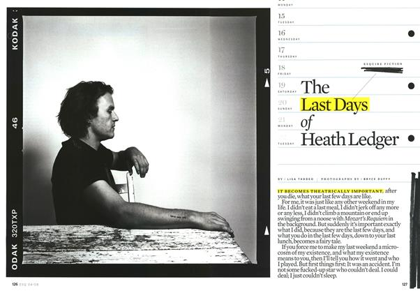 The Last Days of Heath Ledger