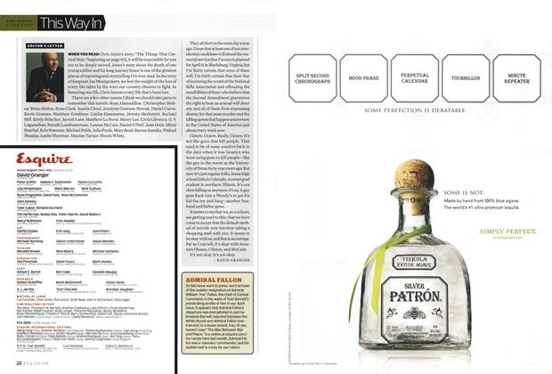 Article Preview: Editor's Letter, MAY 2008 2008 | Esquire