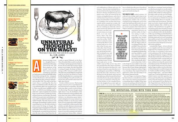 Article Preview: Unnatural Thoughts on the Wagyu, SEPTEMBER 2008 2008   Esquire