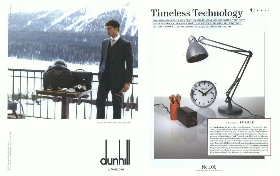 Timeless Technology   Esquire   SEPTEMBER 2008