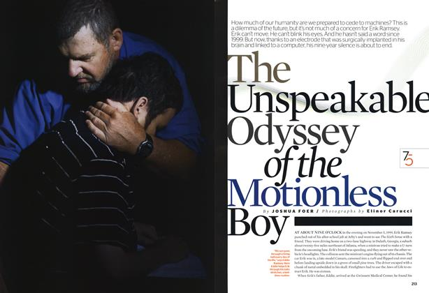 Article Preview: The Unspeakable Odyssey of the Motionless Boy, October 2008 | Esquire