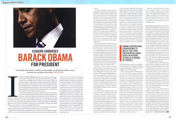 Esquire Endorses Barack Obama for President