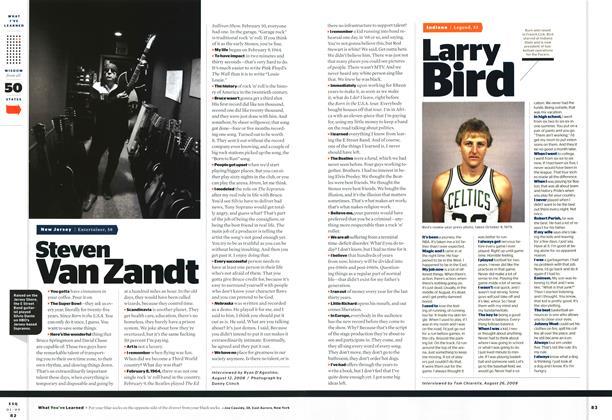 Article Preview: Steven Van Zandt, JANUARY 2009 2009 | Esquire