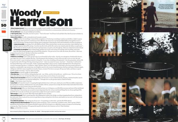 Article Preview: Woody Harrelson, JANUARY 2009 2009 | Esquire