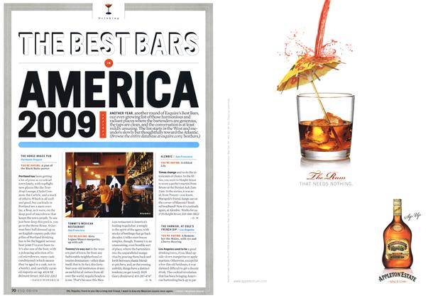 The Best Bars in America 2009