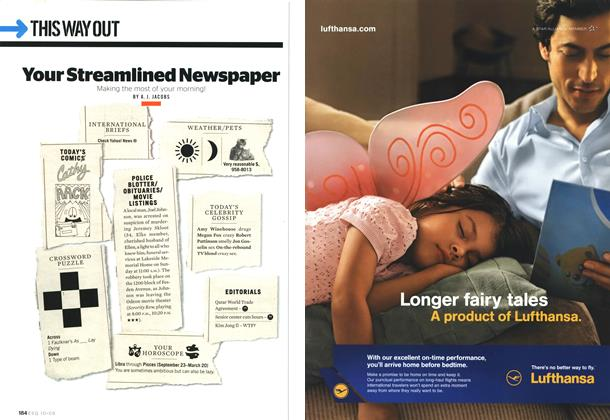 Article Preview: Your Streamlined Newspaper, October 2009 | Esquire