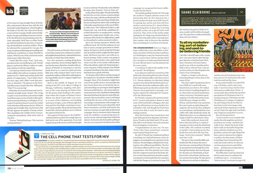 The Cell Phone That Tests for Hiv | Esquire | DECEMBER 2009