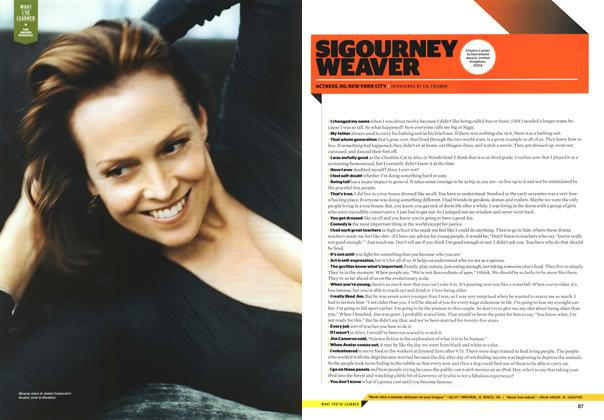 Article Preview: Sigourney Weaver, JANUARY 2010 2010   Esquire