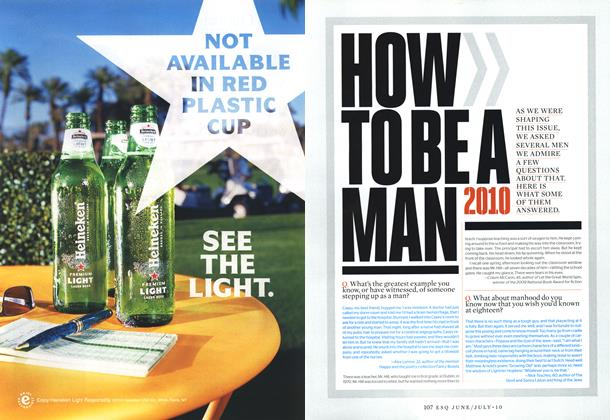 Article Preview: How to Be a Man , JUNE/JULY 2010 | Esquire