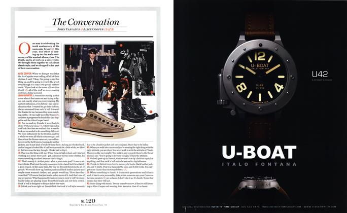 Article Preview: John Varvatos & Alice Cooper (3 of 3), SEPTEMBER 15, 2010 2010 | Esquire