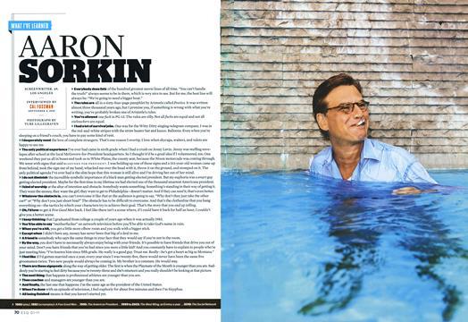 Aaron Sorkin - January | Esquire