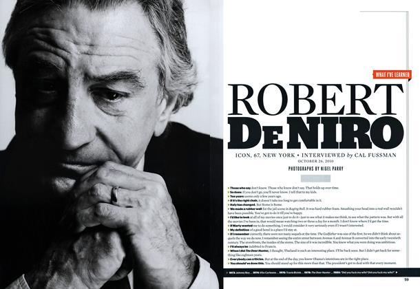 Article Preview: Robert De Niro, JANUARY 2011 2011 | Esquire