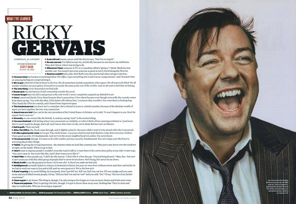 Article Preview: Ricky Gervais, January 2011 | Esquire