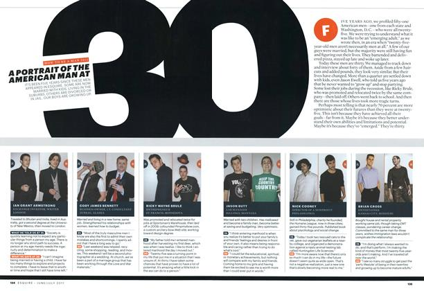 Article Preview: A Portrait of the American Man at 30, June/July 2011 | Esquire