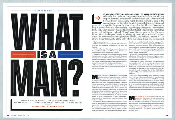 Article Preview: What Is a Man, June/July 2011 | Esquire