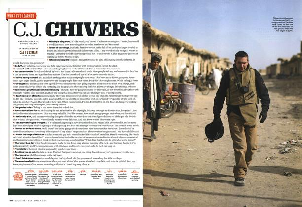 Article Preview: C. J. Chivers, SEPTEMBER 2011 2011 | Esquire