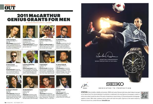 2011 MacArthur Genius Grants for Men