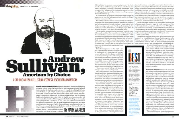 Article Preview: Andrew Sullivan, American By Choice, December 2011 | Esquire