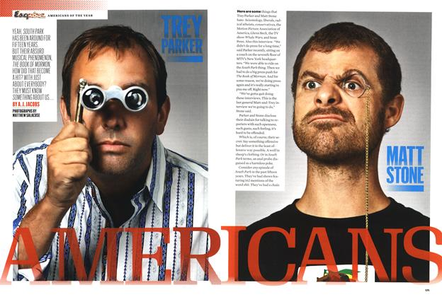Article Preview: Trey Parker and Matt Stone, Americans, DEEMBER 2011 2011 | Esquire