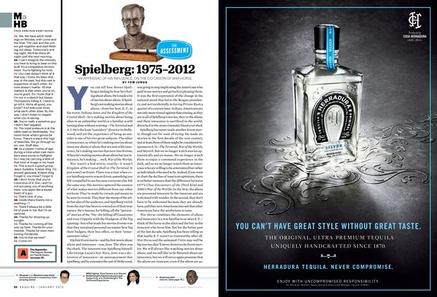 Article Preview: Spielberg: 1975-2012, JANUARY 2012 2012 | Esquire