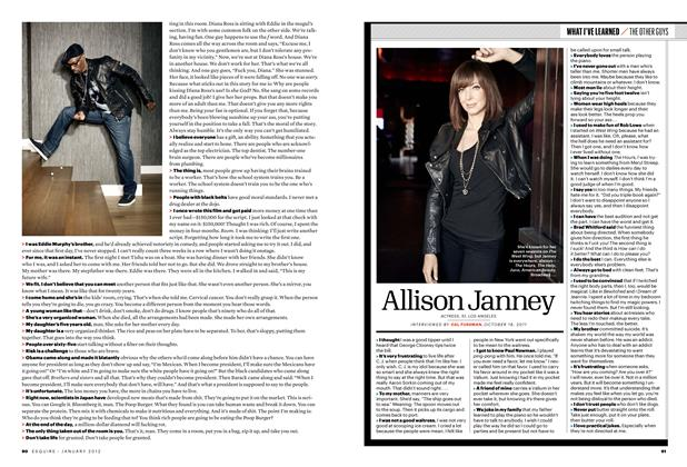 Article Preview: Allison Janney, January 2012 | Esquire