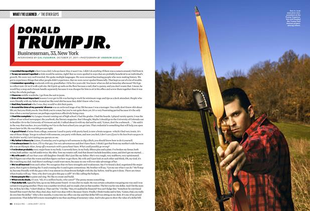 Article Preview: Donald Trump Jr., January 2012 | Esquire