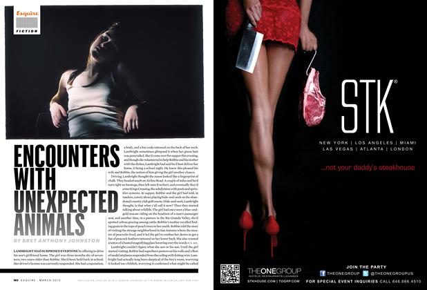 Article Preview: Encounters with Unexpected Animals, MARCH 2012 2012 | Esquire