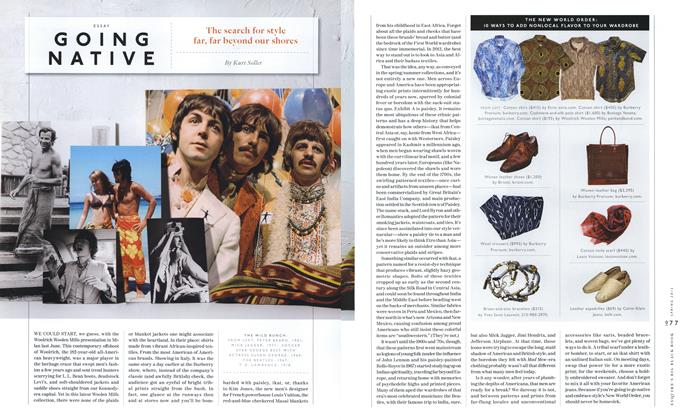 Article Preview: Going Native, SPRING/SUMMER 2012 2012 | Esquire
