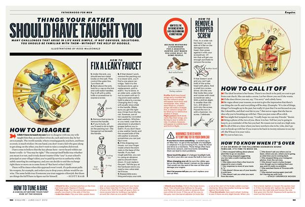 Article Preview: Things Your Father Shouls Have Taught You, June/July 2012   Esquire