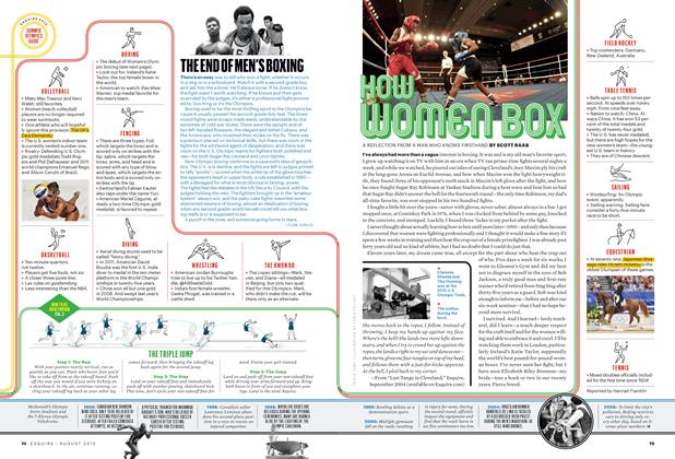 Article Preview: How Women Box, August 2012 | Esquire