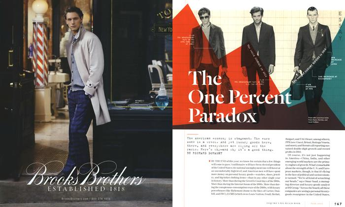 Article Preview: The One Percent Paradox, FALL/WINTER 2012 2012 | Esquire