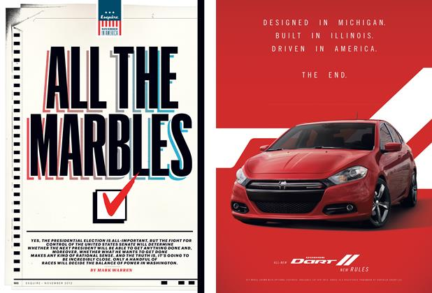 Article Preview: All the Marbles, November 2012 | Esquire