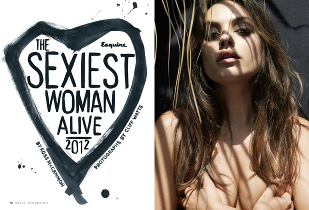 Article Preview: The Sexiest Woman Alive Is Mila Kunis, November 2012 | Esquire