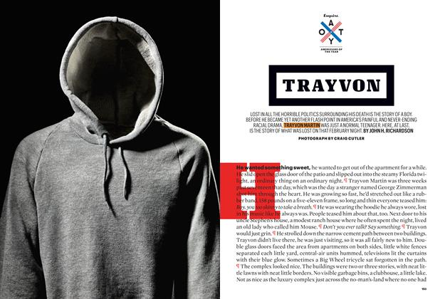 Article Preview: Trayvon, December 2012 | Esquire