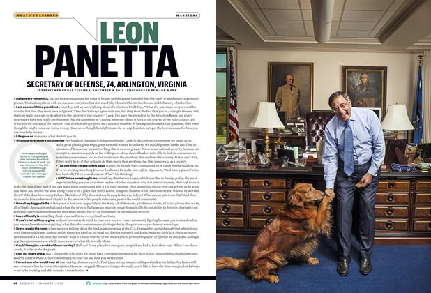 Article Preview: Leon Panetta, JANUARY 2013 2013 | Esquire