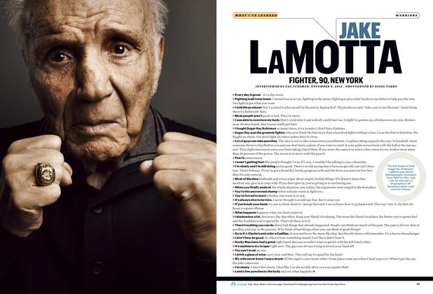 Article Preview: Jake LaMotta, JANUARY 2013 2013 | Esquire