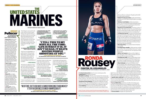 Article Preview: Ronda Rousey, JANUARY 2013 2013 | Esquire