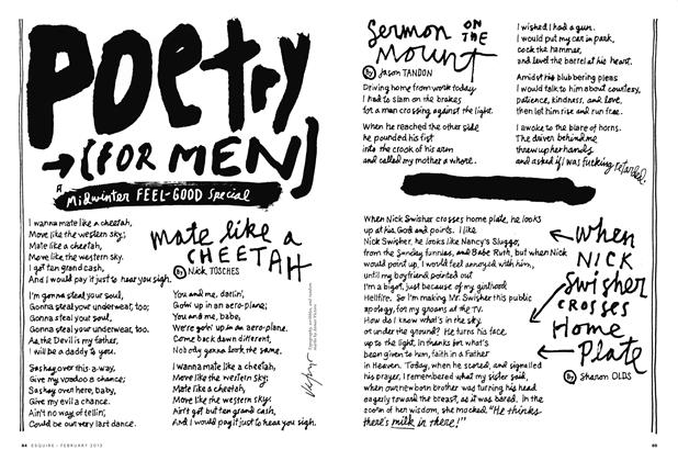 Article Preview: Poetry for Men, FEBRUARY 2013 2013 | Esquire