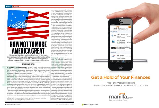 Article Preview: How Not To Make America Great, April 2013 | Esquire