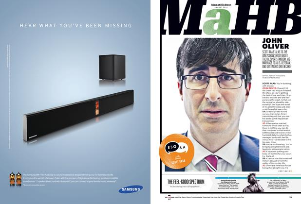 Article Preview: John Oliver, August 2013 | Esquire