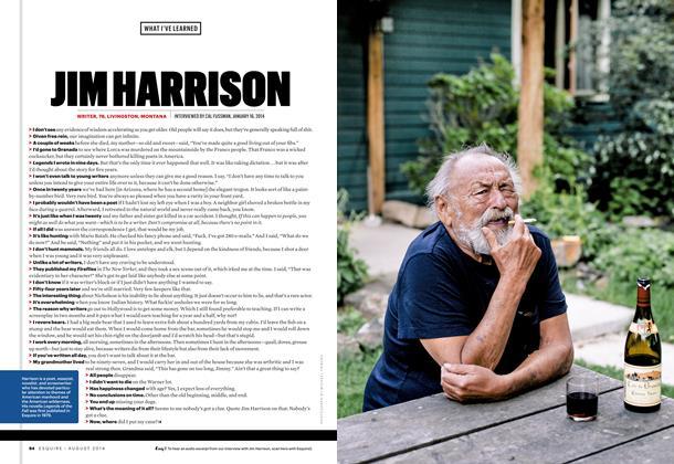 Article Preview: Jim Harrison, August 2014 | Esquire