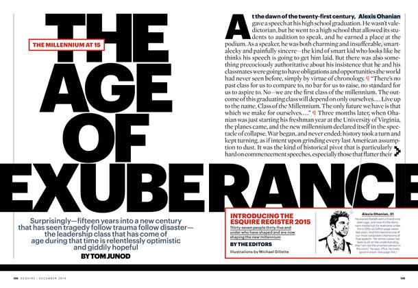 Article Preview: The Age of Exuberance, December 2014 | Esquire