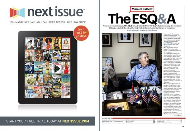 Article Preview: Mark Udall, January / February 2015 | Esquire