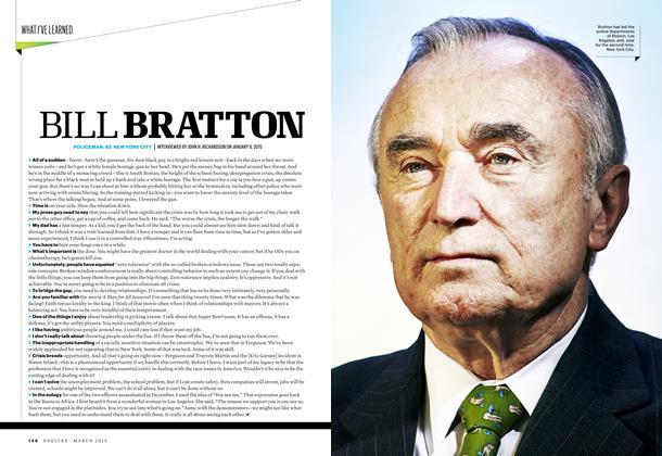 Article Preview: Bill Bratton, March 2015 | Esquire