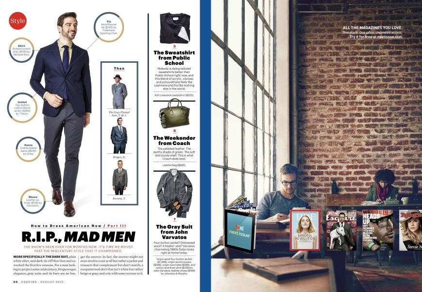 R i p , Mad Men | Esquire | AUGUST 2015