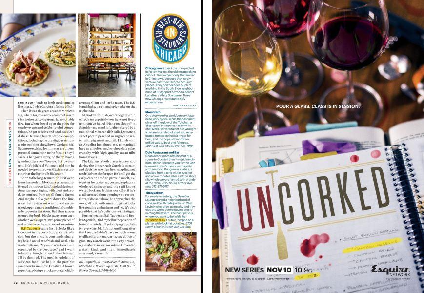 Best New Restaurants In Chicago Esquire November 2015