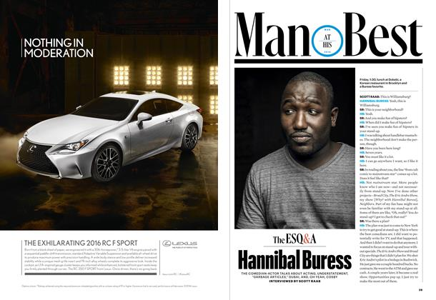 Article Preview: Hannibal Buress, MARCH 2016 2016 | Esquire