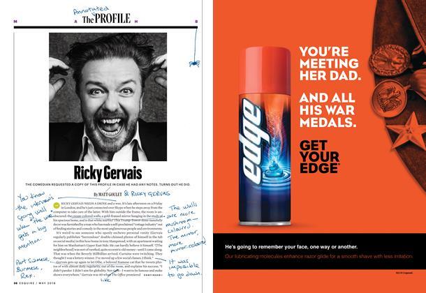 Article Preview: Ricky Gervais, MAY 2016 2016 | Esquire