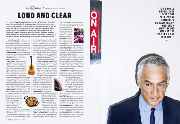 Article Preview: Loud and Clear, August 2016 | Esquire